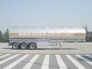 Chiny 46000 Liters Aluminum Fuel Oil Tank Trailer With 12T BPW 3 axles Petroleum Tanker Trailers dostawca