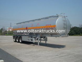 Chiny 46000L Aluminum Alloy 3 Axles Diesel Oil Tank Trailer , Light Gasoline Trailer dostawca
