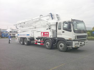 Chiny 8x4 SSAB Steel ISUZU 47m Truck Mounted Concrete Pump / Delivery Equipment 390HP dystrybutor