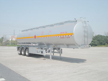Chiny 46000L Aluminum Alloy 3 Axles Diesel Oil Tank Trailer , Light Gasoline Trailer dystrybutor