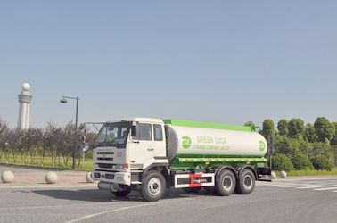 Chiny 5,944 US Gallon 320HP Aluminum Alloy Oil Tank Truck with 6x4 DongFeng Nissan Diesel Chassis dystrybutor