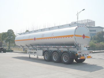 Chiny 3x12T BPW axle 46000L Aluminum Alloy Petroleum Mobile Fuel Tank Trailer dystrybutor